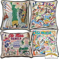Retro Geography Pillows