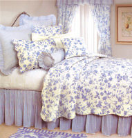 Williamsburg Brighton Toile Blue Quilt Set