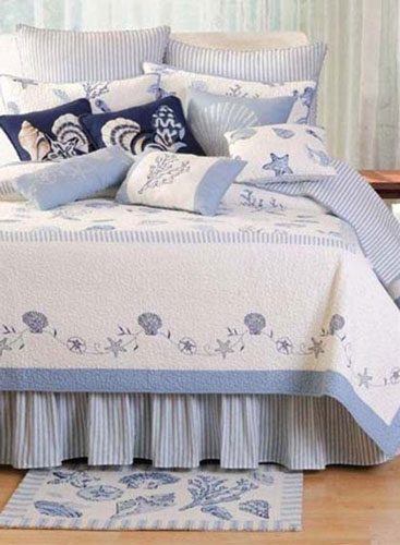quilts bedding from c f enterprises treasures by the sea blue