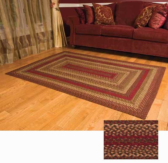 Cinnamon Braided Rugs by by IHF Home Dcor