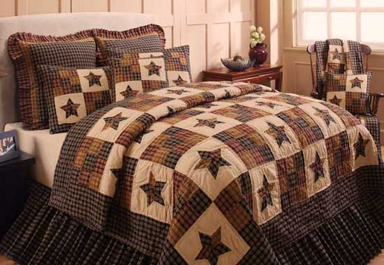 Cambridge Star Quilt Bedding By Ihf Home Decor