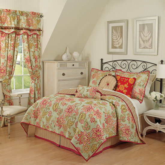 Waverly charismatic honeysuckle quilt sets and bedding accessories