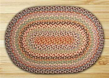 "Multi 1 Oval Braided Rug 20""x30"""
