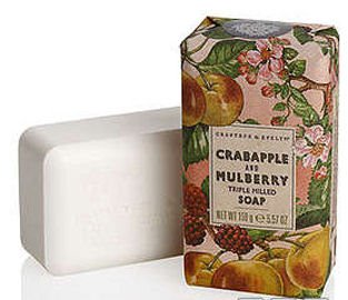 Crabapple and Mulberry Triple Milled Soap by Crabtree & Evelyn (5.57 oz bar)
