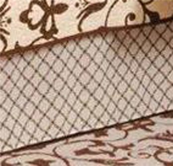 Brown Lattice King Bedskirt