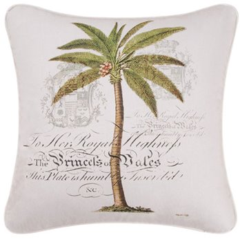 Barbados Sand Palm I Pillow
