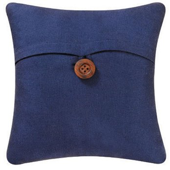 Blue Feather Down Pillow