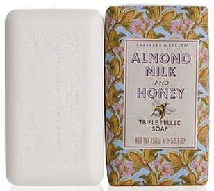 Almond Milk & Honey Triple Milled Soap by Crabtree & Evelyn (5.57 oz bar)