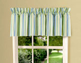 Green & Blue Stripes Valance