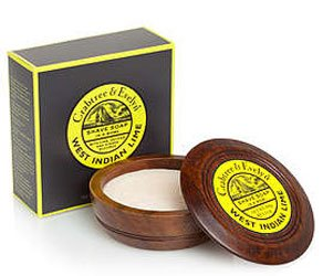 Crabtree & Evelyn West Indian Lime Shave Soap in Wooden Bowl (3.5 oz, 100g)