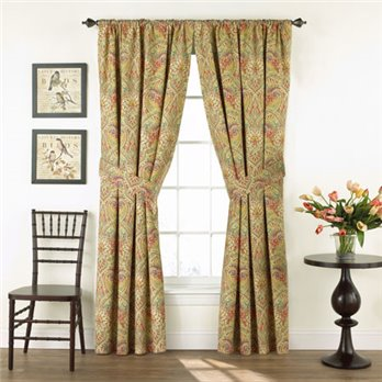 Waverly Swept Away Floral Drapery Pair