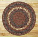 Burgundy & Gray Round Braided Rug 4'x4'