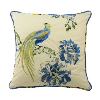 Waverly Floral Engagement 18-inch Embroidered Decorative Accessory Pillow