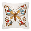 Audrey Butterfly Chain Stitch Pillow