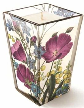 Purple Poppies Madison Candle