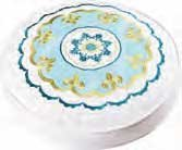 Delilah Blue Round Pillow