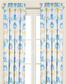 Delilah Blue Drapery Panel