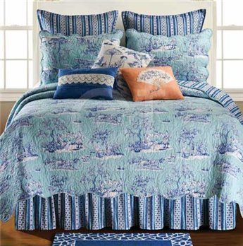Hampstead Toile Full Queen Quilt