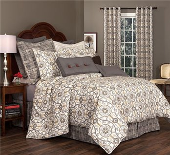 "Izmir Queen Thomasville Comforter Set (18"" bedskirt)"