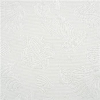 Jamaican Sunset Fabric White Shell Matlessee (Non-returnable)