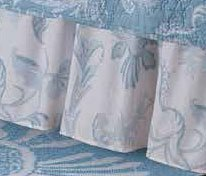 Eliza Lace Blue King Bedskirt