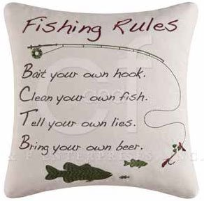 Gibson Lake Fishing Rules Pillow