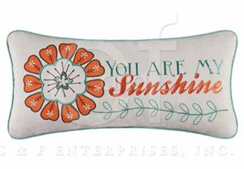 Dezra Sunshine Embroidered Pillow