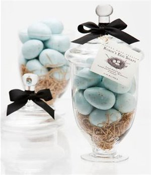 Gianna Rose 16 Robin's Egg Soaps in Large Apothecary Jar