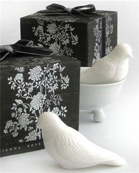 Gianna Rose Perched Pair Bird Soaps with Porcelain Dish