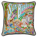 Santa Barbara Embroidered Pillow