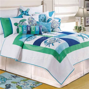 Meridian Waters Full Queen Quilt