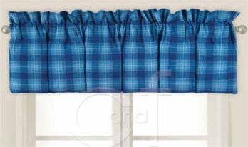 Fair Winds Plaid Blouson Valance