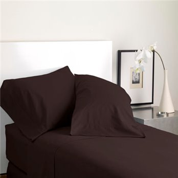 Modern Living Solid Color T300 Standard Java Pillowcase Pair