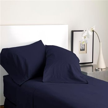 Modern Living Solid Color T300 Queen Evening Blue Sheet Set