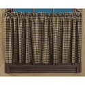 Black Check Scalloped Tier Set of 2 24x36