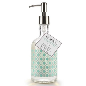 Caldrea Pear Blossom Agave Glass Refillable Hand Soap