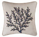 Indigo Sound Glass Beaded Coral Pillow