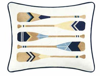 Channel Harbor Oars Pillow