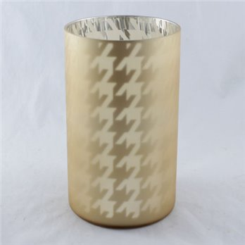 Yankee Candle Flickering Gold Houndstooth Jar Candle Holder