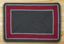 "Graphite & Burgundy In The City Rectangle Rug 20""x30"""