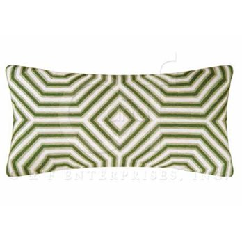Annabelle Geometric Chain Stitch Pillow