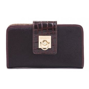 Spartina 449 Croc Flip-Lock Wallet Bordeaux