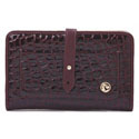 Spartina 449 Boutique Croc Snap Wallet Bordeaux