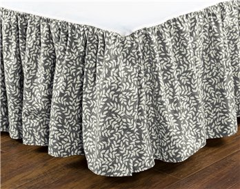 "Bouvier Leaf Cal King 15"" Drop Bedskirt"