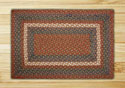 "Burgundy & Gray Rectangle Braided Rug 20""x30"""
