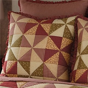 Mill Village Patchwork Euro sham Euro sham from Park Designs