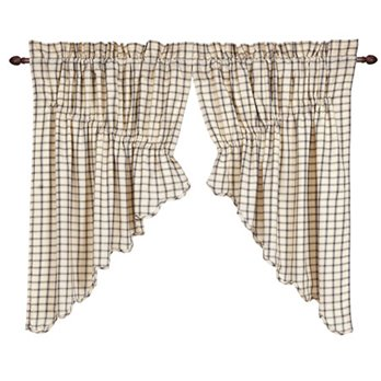 Ethan Scalloped Prairie Swag Set of 2 36 x 36 x 18