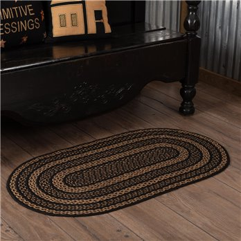 Farmhouse Jute Rug Oval 27x48