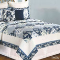 Blue Canton Full Queen 3 Piece Set