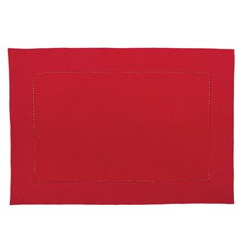 Crimson Hemstitch Placemat